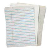 Sheet of paper stack  on white background Royalty Free Stock Photography