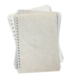 Sheet of paper stack  on white background Royalty Free Stock Photos