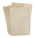 Sheet of paper stack  on white background Stock Image