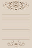 Sheet of paper with vignette. Ruling sheet of paper decorated vignette Stock Image