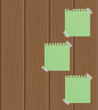 The sheet of paper on a wooden background. Vector illustration Royalty Free Stock Photography
