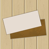 The sheet of paper on a wooden background. Vector illustration Royalty Free Stock Image