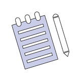 Sheet and pen vector illustration Stock Photography