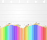 Sheet pencil Royalty Free Stock Images