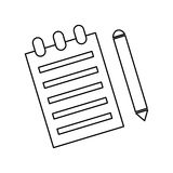 Sheet with pencil. Icon vector illustration graphic design Stock Photos