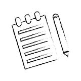 Sheet with pencil. Icon vector illustration graphic design Stock Photography