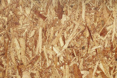 Sheet of plywood with fragments of compressed sawdust Stock Photography