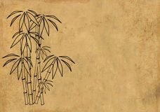 Sheet rice paper with figure of bamboo Royalty Free Stock Images