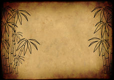 Sheet rice paper with figure of bamboo Royalty Free Stock Image
