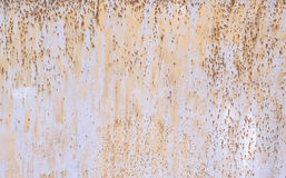 Sheet of Rusty Metal with Oxide Iron Royalty Free Stock Photos