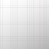 Sheet of school exercise book, paper vector.  Stock Images
