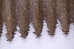 A sheet of slate in the snow. The texture of the sheet of slate in the snow Royalty Free Stock Image