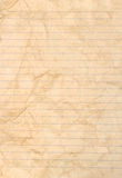 Sheet of stained lined paper Stock Photography