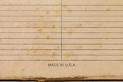 Sheet of stained lined paper, Vintage Grungy Lined Paper Stock Images