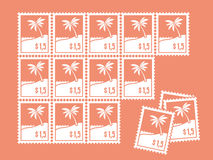 Sheet of stamps Stock Image