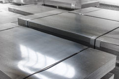 Sheet Tin Metal In Production Hall Royalty Free Stock Photo