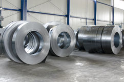 Sheet tin metal rolls Stock Photo