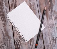 Sheet torn from a notebook Royalty Free Stock Photo