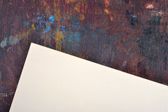 Sheet of watercolor paper on easel Stock Photos