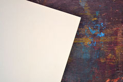 Sheet of watercolor paper on easel Stock Images