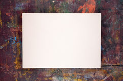 Sheet of watercolor paper on old wooden easel Royalty Free Stock Images