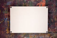 Sheet of watercolor paper pinned to wooden easel Royalty Free Stock Image