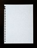 Sheet of white lined paper Stock Images