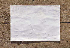 A sheet of white paper Stock Image