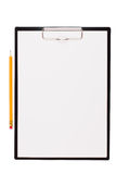 Sheet of white paper mounted on tablet Royalty Free Stock Photo