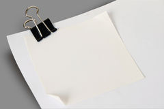 Sheet of white paper note Royalty Free Stock Photography
