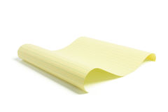 Sheet of Yellow Paper Royalty Free Stock Photo