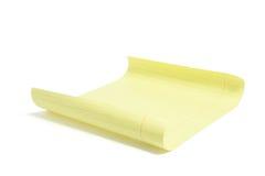 Sheet of Yellow Paper Stock Photos