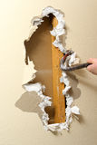 Sheetrock removal stock photography
