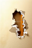 Sheetrock removal Royalty Free Stock Images