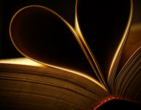 Sheets of a book heart shaped Stock Photo