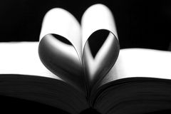 Sheets of a book heart shaped Royalty Free Stock Images
