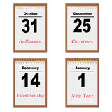 Sheets of a calendar Royalty Free Stock Photography