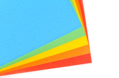 Sheets of color paper Royalty Free Stock Photos