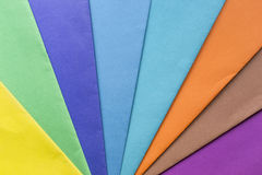 Sheets of color paper Royalty Free Stock Image