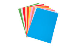 Sheets of colored paper. Isolated on a white background Stock Photography