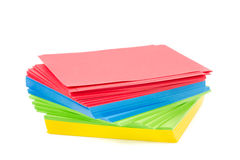 Sheets of colorful paper Stock Image