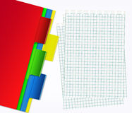 Sheets and different maps. Different maps and sheets in rout Stock Photo