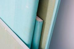 Sheets of drywall. Sheets blue green of drywall Stock Image