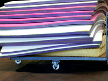 Sheets of foam rubber of different colors Stock Photos