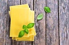 Sheets for lasagna Royalty Free Stock Photo