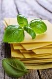 Sheets for lasagna Stock Photo