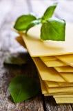 Sheets for lasagna Royalty Free Stock Photos