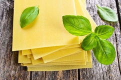 Sheets for lasagna Stock Images