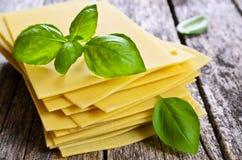 Sheets for lasagna Royalty Free Stock Images