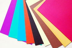 Sheets of multicolored paper Royalty Free Stock Photography
